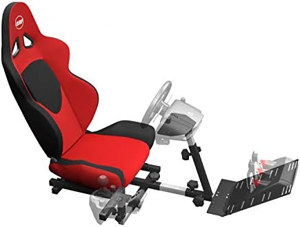 d08be8a6c5f OpenWheeler GEN2 Racing Wheel Stand Cockpit Red on Black | Fits All Logitech  G29 | G920 | All Thrustmaster | All Fanatec Wheels | Compatible with Xbox  One, ...