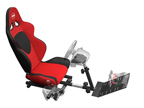 OpenWheeler GEN2 Racing Wheel Stand Cockpit Red on Black | Fits All Logitech G29 | G920 | All Thrustmaster | All Fanatec Wheels from OpenWheeler