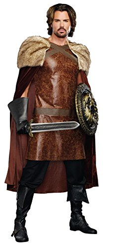 [GTH Men's Medieval Dragon Warrior King Theme Party Fancy Costume, XX-Large (50-52)] (Dragon Warrior King Adult Mens Costumes)