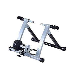 Soozier Magnetic Indoor Bike Bicycle Trainer Stand Exercise Fitness 5 Level Resistance - Silver