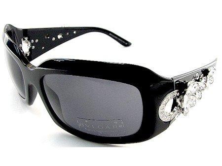 4d0056db19 New Bvlgari 856-B 856B 501 87 Sunglasses Smoke Lens Black Frame  Size 59-18-115 W  Flower Crystals  Amazon.co.uk  Clothing
