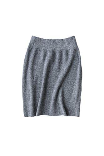 Irregular sólido Yacun mujer suéter falda de punto Grey
