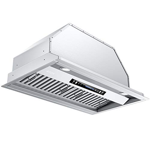 IKTCH 30 inch Bullet-in/Insert Range Hood 900 CFM, Stainless Steel Kitchen Vent Hood, with 2 Pcs Adjustable Lights and 2 Pcs Baffle Filters with Handlebar