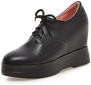 NJX/ hug Chaussures Femme - Décontracté - Noir / Rouge / Beige - Talon Compensé - Compensées - Talons - Similicuir beige-us5 / eu35 / uk3 / cn34 MKJMK