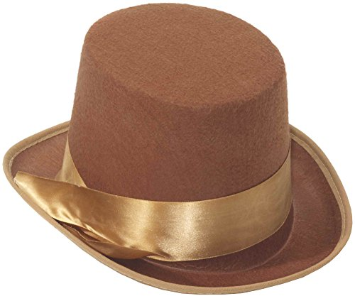 Forum Novelties Party Supplies Steampunk Bell Topper Hat Accessory, Brown, Standard, Multi]()