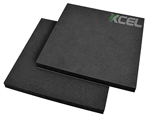 XCEL - Acoustic Insulation Studio Pads with Adhesive, Pack of 2, Size 12 Inch x 12 Inch x 1 Inch