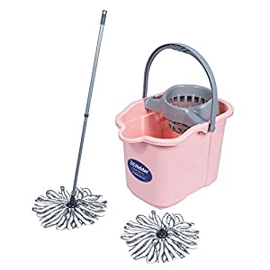 Helder Mop & Bucket with Wringer Set (Pink)