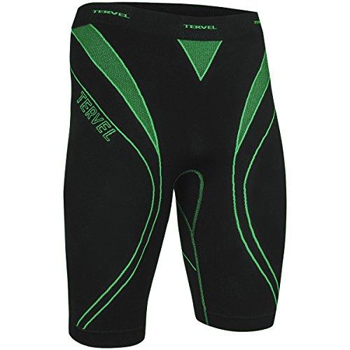 Tervel Uomo Optiline Esecuzione Pantaloncini Corti Nero/Verde