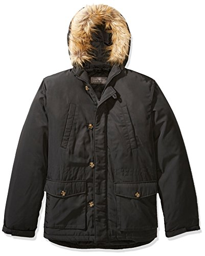 The+Plus+Project+Men%27s+Plus+Size+Winter+Coat+with+Hood+and+Removable+Faux+Fur+Trim+2X-Large+Dark+Grey