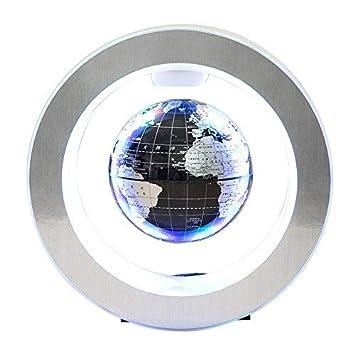 Globe Terrestre Magnétique, Beetest 4inch Magnétique Lévitation Globe  Flottant avec LED O Forme Base Rotation 5a44293e3d76