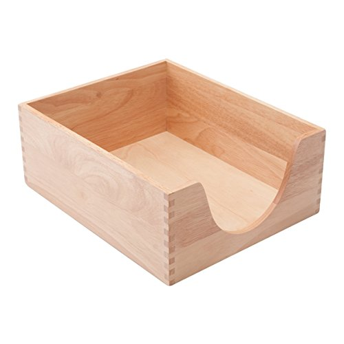 Carver Wood Double Deep Wood Desk Tray, Letter Sized, 10 3/8