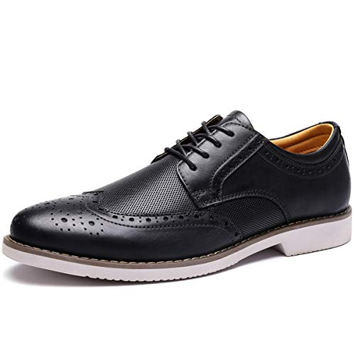 Men's Dress Shoes Wingtip Leather Oxford Lace Up Brogue Black 13 M US