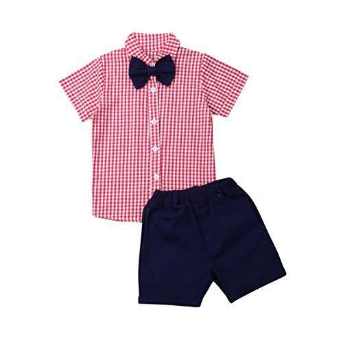 Toddler Little Boy Kids Summer Floral Shirt Bermuda Shorts Outfit Set Clothes