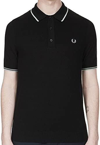 Fred Perry Fp Tipped Knitted Polo, Negro, Medium para Hombre ...