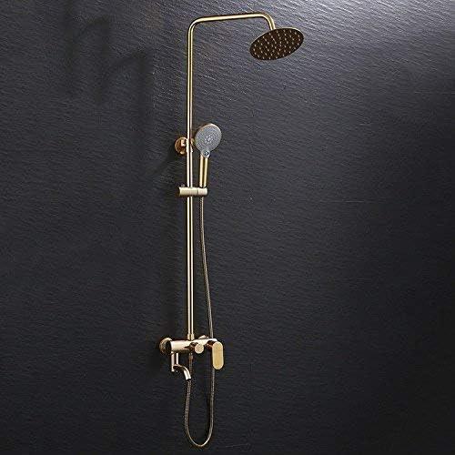 WXQ-XQ 洗面化粧台のシンクの蛇口3つのギアレインシャワーセットのスペースアルミ温水と冷水ハンドヘルドの浴室の洗面台のシンクタップ浴室の蛇口