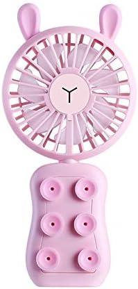 xinrongqu Ventilador Plegable Mini Personal Recargable De 7 Colores Led Portátil para Exterior Rosa