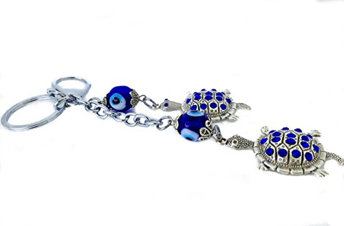 Evil Eye Protection Turtle (Metallic Keychain with Turtles Evil Eye Protection Car)