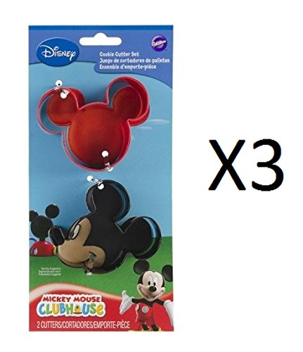 Bulk Buy: Wilton (3-Pack) Cookie Cutter Set 2/Pkg Mickey Mouse (Wilton Industries Cookie Cutters)