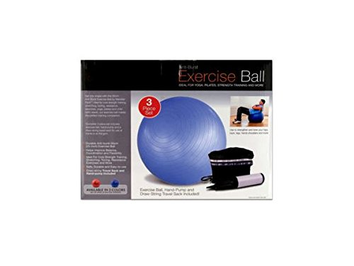 K&A Company Ball Pump Exercise Yoga Fitness Balance Pilates Stability Gym Case of 12 by K&A Company