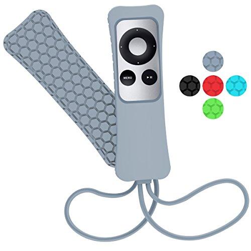 Hanlesi Apple Remote Case, Light Weight Anti Slip Funda Protectora de Silicona a Prueba de Golpes a Prueba de Golpes para Apple TV 2 3 Remote Controller