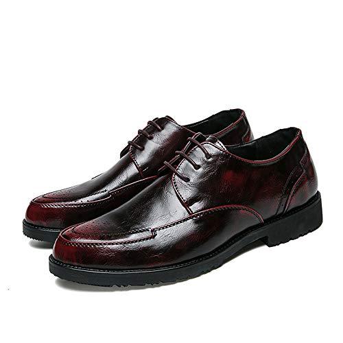 de Zapatos la y de Oxford Primavera Moda Casual la de Informales Rojo nuevos Hombres del los de otoño rrvqwH584x