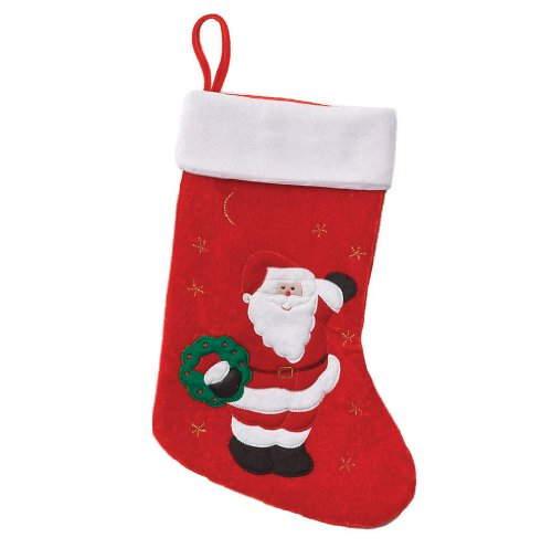 Price comparison product image Holiday Stocking in Plush Red & White Fur Trim, Chimney D¡§cor