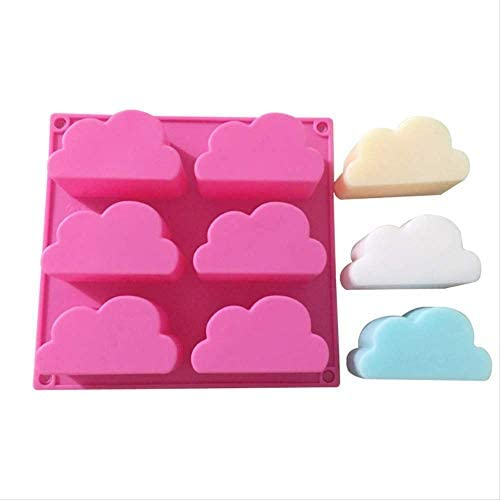 Neutral 6 L/öcher Wolkenform Silikonform F/ür Backwerkzeuge Kuchen Mousse Wolken Seifenform Silikonformen Seifengeleeform Eisschale