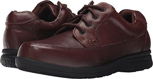 Nunn Bush Men's Cam Moc Toe Oxford Brown Tumbled Leather Oxford ()