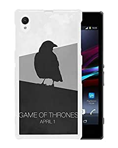 Game Of Thrones Minimal Raven White Unique Abstract Custom Sony Xperia Z1 Case
