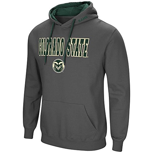 Mens Colorado State Rams Pull-Over Hoodie - L
