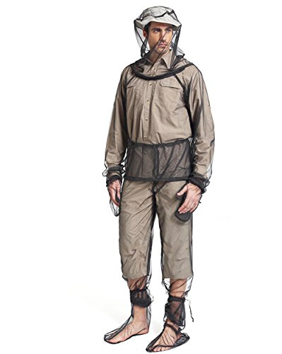 Mosquito Suit, Bug Repellent Jacket Mosquito Netting Suit Unisex Mesh Hooded Protection Suits,Anti Mosquito Net Repellent Clothing, Ultimate Protection from Bugs, No-See-Ums, Midges. (Small/Medium)