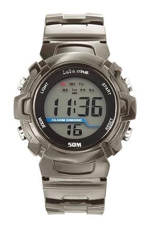 Lulu Castagnette 37017 - Reloj digital de cuarzo para hombre con correa de plástico, color negro: Amazon.es: Relojes