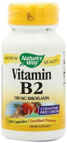 Nature's Way Vitamin B2, 100 mg Riboflavin, 200 Capsules