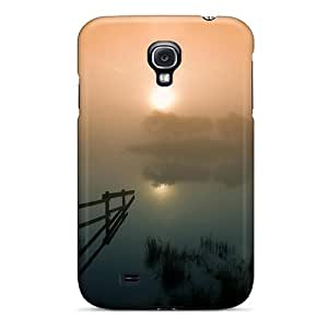 S4 Scratch-proof Protection Case Cover For Galaxy/ Hot Foggy Haze On A Lake In Scotl Phone Case