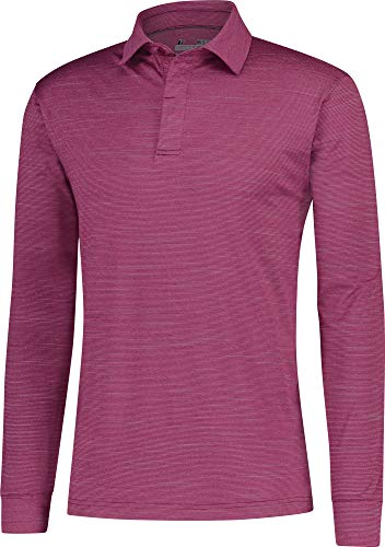 Mens-Dry-Fit-Long-Sleeve-Polo-Golf-Shirt-Moisture-Wicking-and-UV-Protection