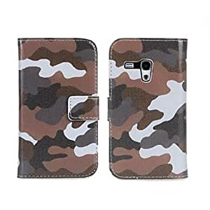 JJE Camouflage PU Leather Full Body Case with Strap and Sticker for Samsung Galaxy S3 Mini I8190