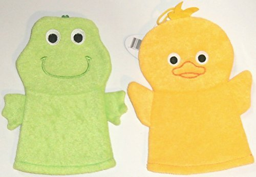 - Set of Duck and Frog Wash Mitt Puppets