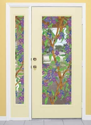 Biscayne See-Thru Stained Glass Decorative Window Film 32 x 86
