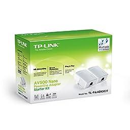TP-Link AV500 Nano Powerline Adapter Starter Kit, up to 500Mbps (TL-PA4010KIT)