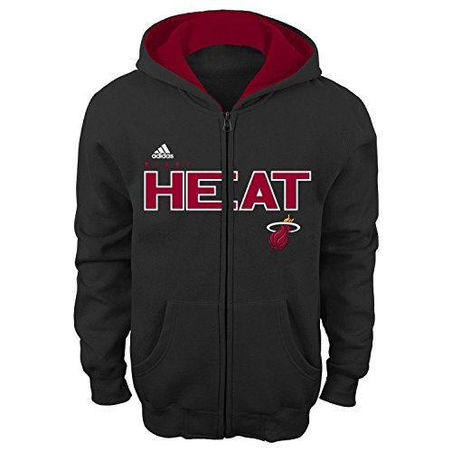 NBA Miami Heat Boys 8-20 Stated Full Zip Hoodie, Large (14-16), Rio Red (Youth Miami Heat Jersey compare prices)