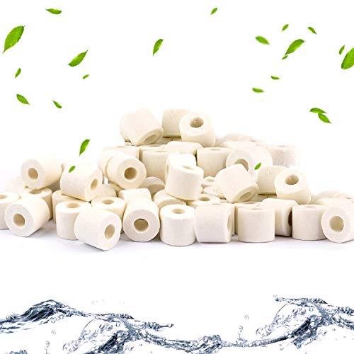 Anillos de ceramica para acuario, filtros de bio, anillos de ceramica premium para todos los tipos de peceras y estanques, 1000 g