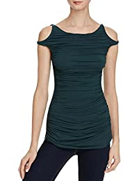 Womens Charming Open Shoulder Drapey Casual Top