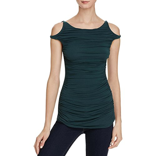 rming Open Shoulder Drapey Casual Top Green S (Bailey Tunic)