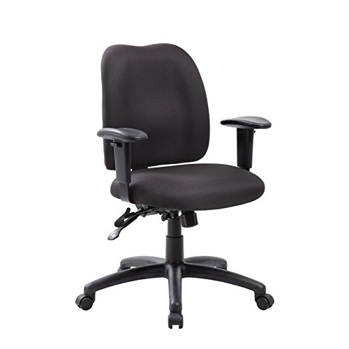 Boss Office Products B4006-SS-BK Multi-Function Task Chair with Seat Slider