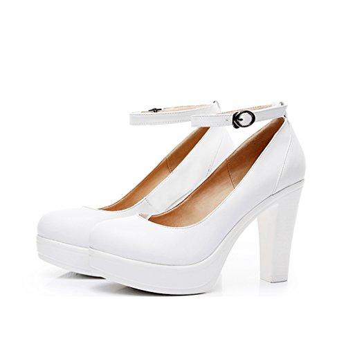 Con Mujeres La Boda Hong Las High De Zapatos Yh Jl A Banquete Gruesos Los Tacones Atractivas Redondos Altos Principales Blancos Shop Forman 10cm Yang El 6zHndWCC