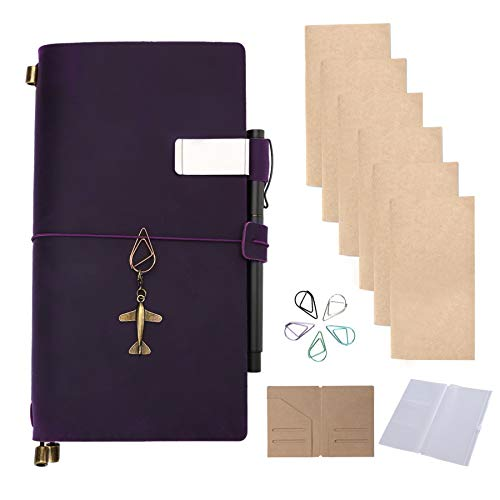 (Leather Refillable Handmade Journal Notebook Standard Size 8.7