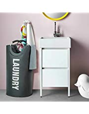 82L Large Laundry Basket Collapsible Fabric Laundry Hamper Tall Foldable Laundry