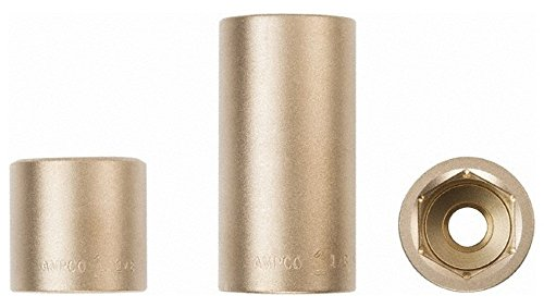 "3/8"" Drive, 18mm Nonsparking Deep Hand Socket, 6 Points -  Ampco"