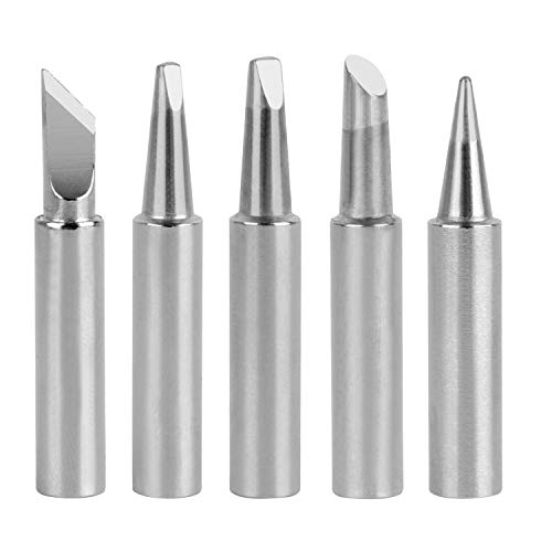 GeToo 900 Series Soldering Tip for HAKKO 936,937,907, and X-Tronic Soldering Station, Set of 5 Shapes