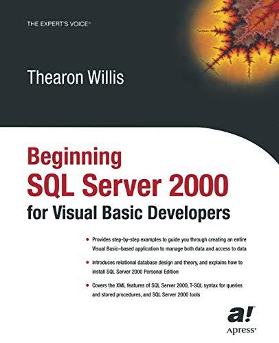 Beginning SQL Server 2000 for Visual Basic Developers (Working With Stored Procedures In Sql Server)